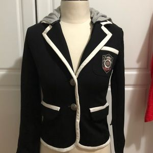 Forever21 blazer with detachable hoodie